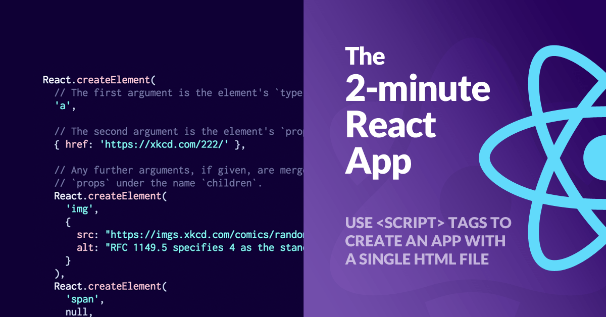 A React app with just one file